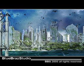 3D destroyed city 01