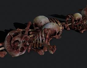3D model Creepy Pile of bones