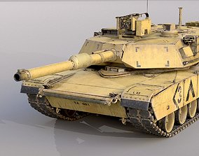 Abrams M1A2 3D model game-ready
