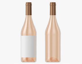 3D model Wine bottle mockup 07