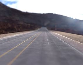 3D asset Seamless PBR road