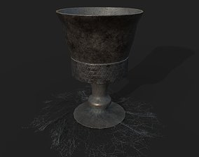 3D model Medieval Style Goblet and Spider Web