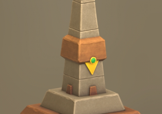 Lowpoly Egyptian Pillar