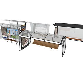 BUS STATIONS MODELS-1 5 MODELS architectural