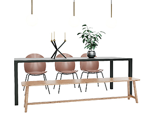 Dining Furnitures Set 43 3D model