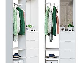 3D Ikea ikea SANDLANDET Open wardrobe white