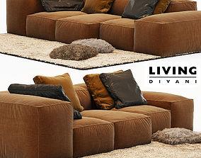 3D model Sofa Extrasoft - Living Divani