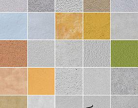 3D 25 Seamless Plaster Textures