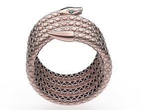 Bracelet Snake 3D print model textured