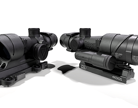 3D model Trijicon ACOG TA02 LED 4x Rifle Scope