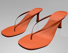 genuine Thong Spool-Heel Sandals 01 3D model