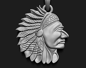 Red Indian Head Resolution 3D printable model