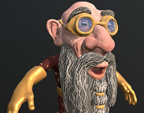 Gnome Mage Rigged 3D model