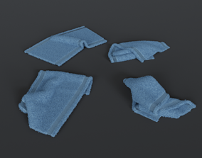 3D Crumpled towels set