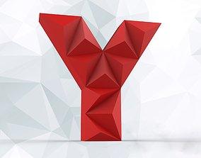 3D print model Lowpoly letter Y