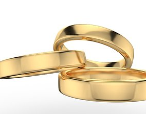 3D printable model Pack 55 Simple wedding ring