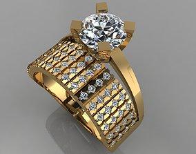 GC GOLD TW0136- Diamond ring 3D printable model