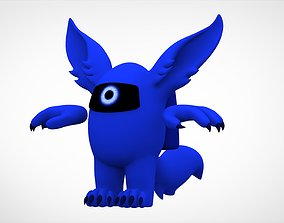 3D asset Among Us Blue Werewolf