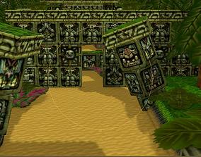 Crash Bandicoot Forest Scene 3D asset