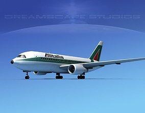 3D model Boeing 767-100 Alitalia