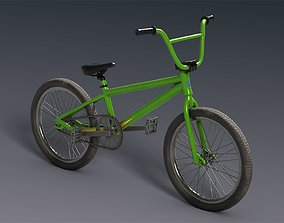 BMX bicycle 3D model low-poly