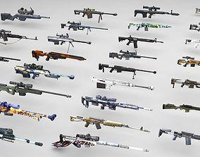 3D model Snipers Rifles Mega Pack