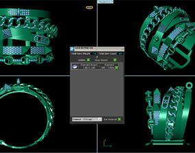 diamond bracelete bracelet 3D print model