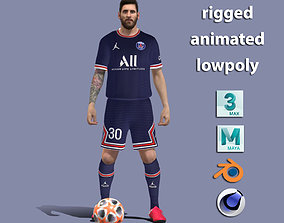 Lionel Messi PSG 2021 3D model
