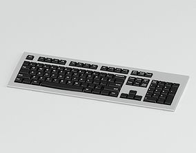 3D Black And Grey Keyboard