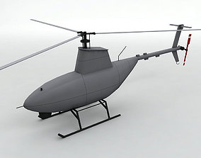 3D model Firescout UAV Unmanned Helicopter