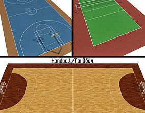 3D Volleyball Basketball Handball Courts