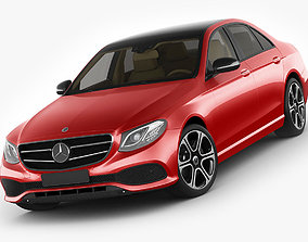 3D model Mercedes E-class avantgarde sedan 2017