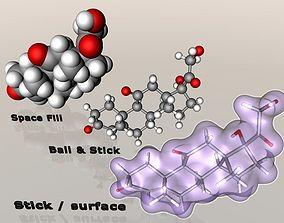 3D model Cortisone molecule