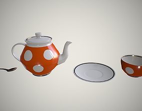 3D model game-ready Tea set