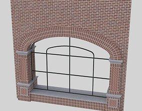 detail 3D model ARCHED WINDOW STOREFRONT