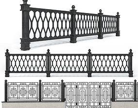 3D Wrought iron fences - Set 1