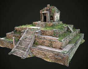 3D asset Aztec Maya Inca Tikal Pyramid Temple