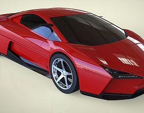 3D CONCEPT SPORTS CAR