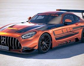 3D Mercedes AMG GT3 2020