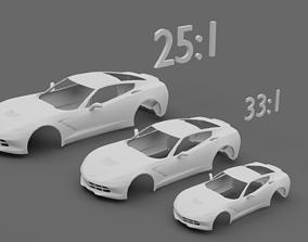 Chevrolet Corvette Stingray C7 3D print model