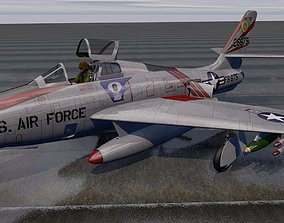 Republic F-84F Thunderstreak 3D model bomber