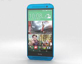 HTC One M8 Aqua Blue 3D