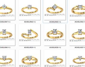 150 Women Ring 3dm render details bulk collections