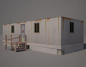 3D model game-ready Metal Shack
