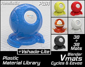 3D VMATS Plastic Material Library for Blender Cycles and