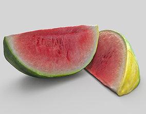 Watermelon piece 3D asset
