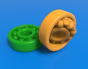 3D-Printable Self Aligning Ball Bearing