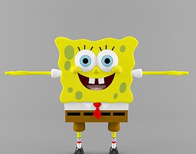 Sponge Bob 3D model rigged
