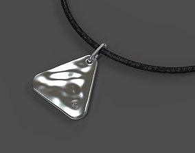 Triangle aqua pendant 3D printable model