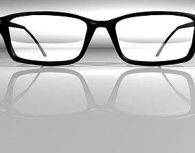 3D Thick-Rimmed Glasses